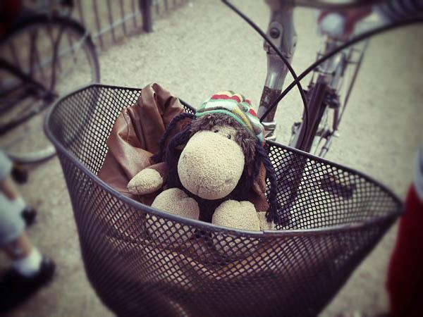 Luis gondelt im Cabrio-Korb durch Kopenhagen