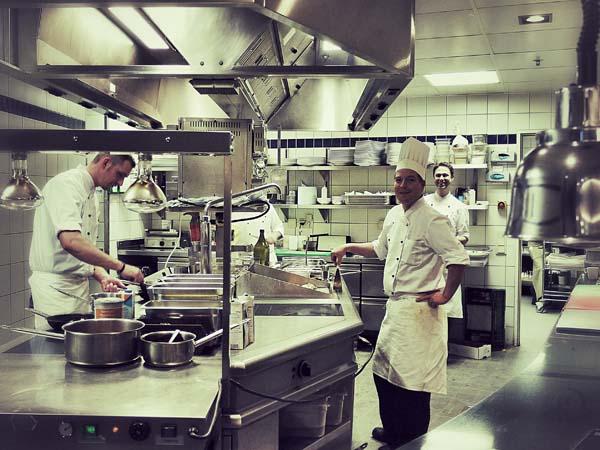 Küchen-Team im Wasserturm