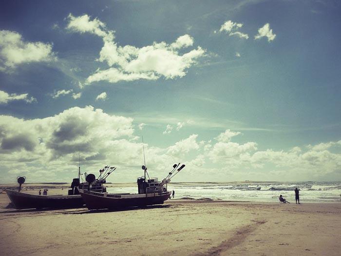 Stundenlang am Strand entlang wandern © Doris Neubauer