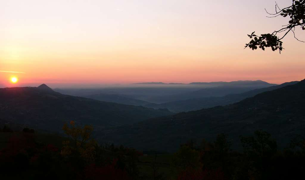 Sunset über dem Apennin