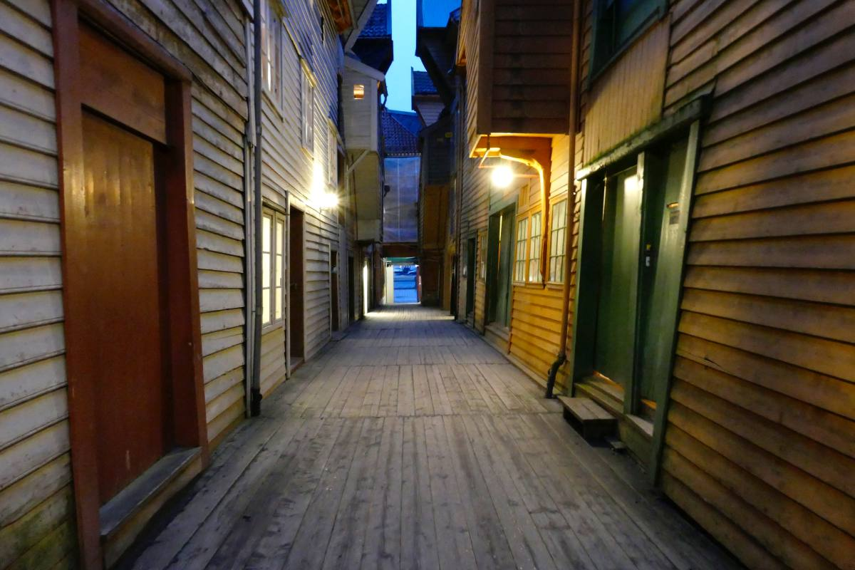 Bryggen am Abend, Bergen