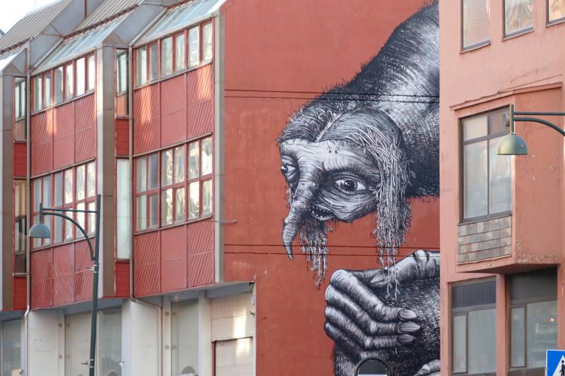 Streetart von Phlegm, Bodø
