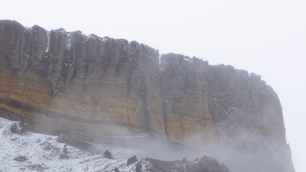 Vulkan im Nebel
