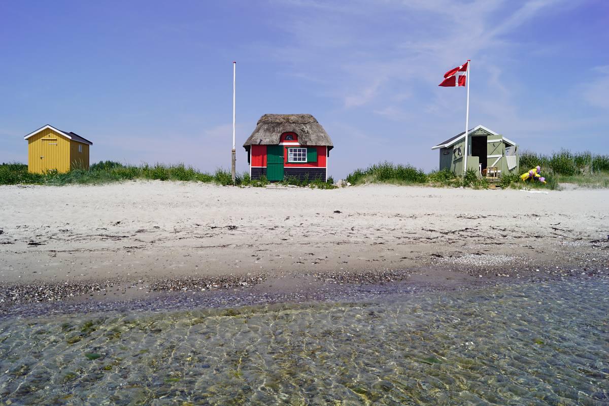 Strandhäuschen in Marstal, Ærø