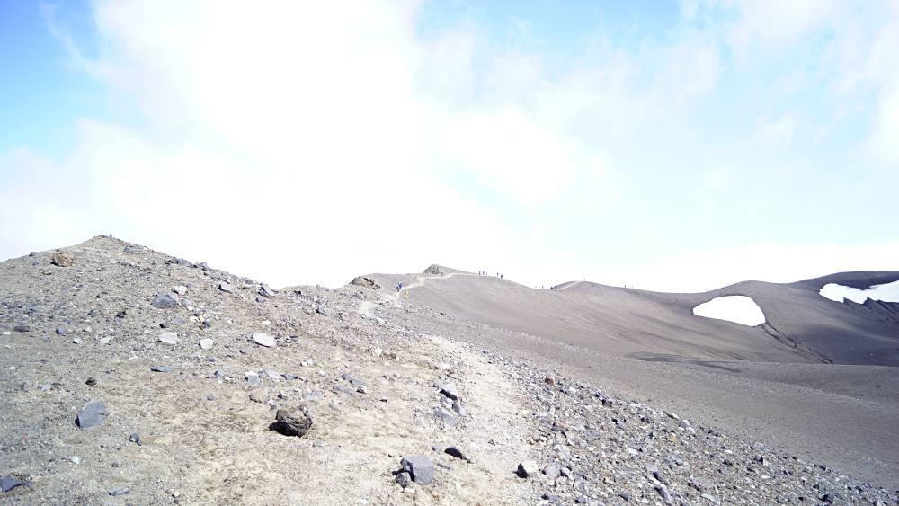 Wandern am Kraterrand
