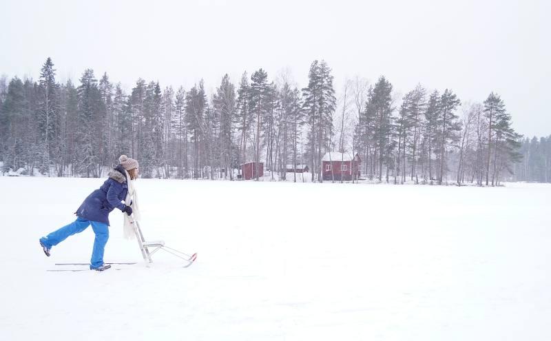 Finnischer Tretschlitten