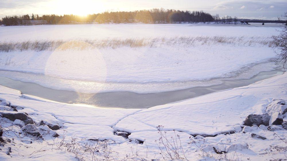 Laajajahti im Winter