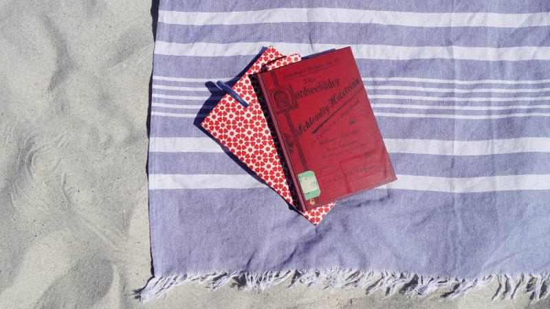 Lektüre am Strand