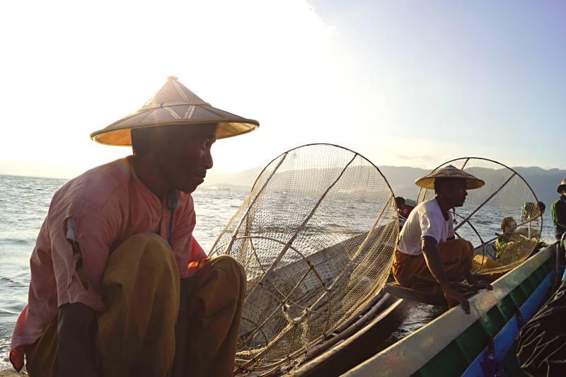 Show der Fischer am Inle-See