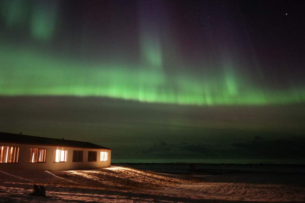 Polarlicht über Westisland