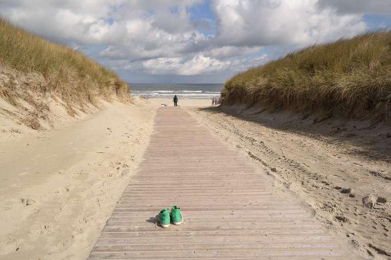 Barfuß am Beach
