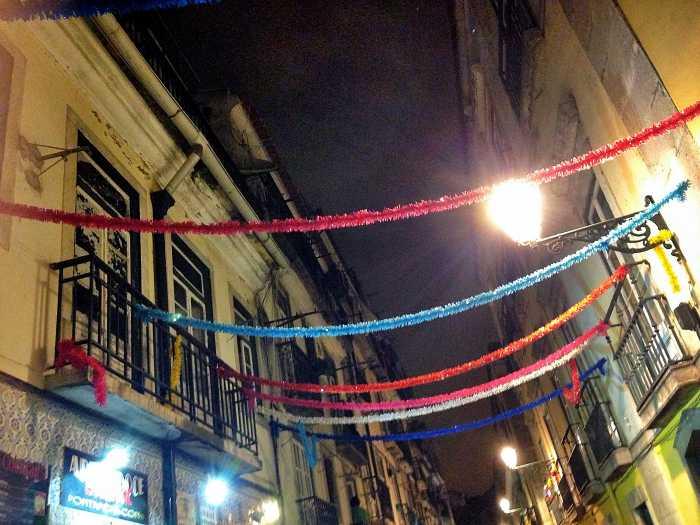 Lissabon in der Nacht
