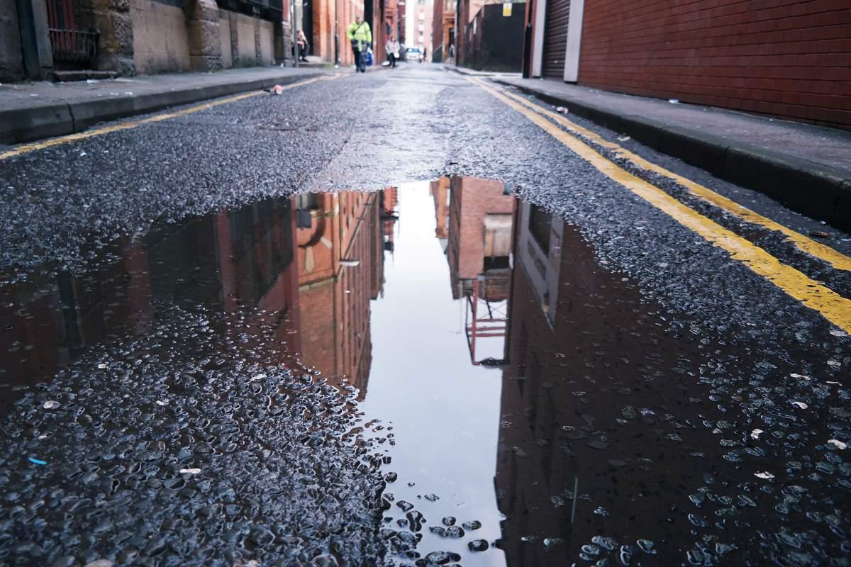 In den Straßen von Manchester