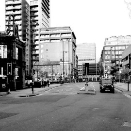 Manchester in b/w