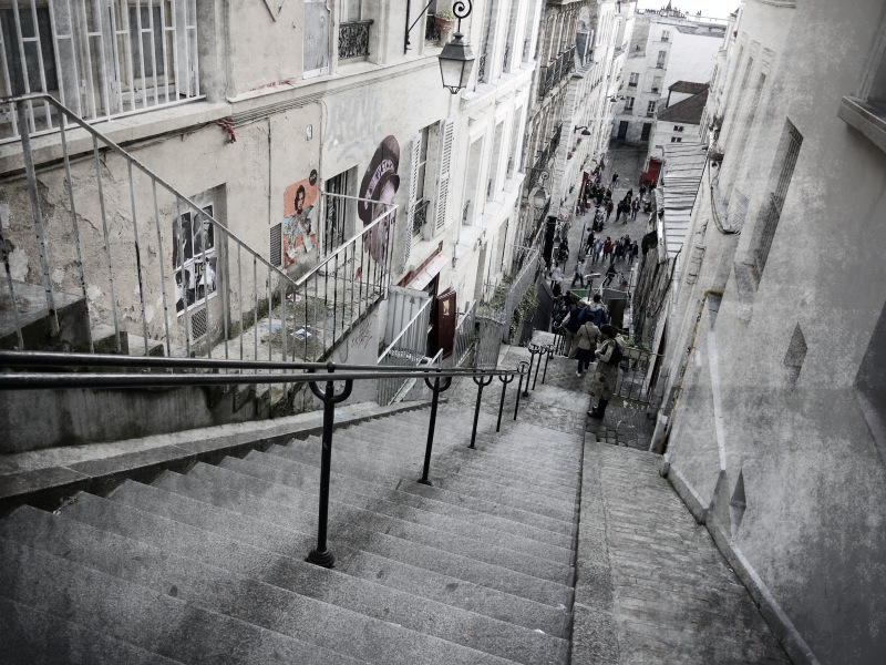 Fit bleiben in Montmartre.