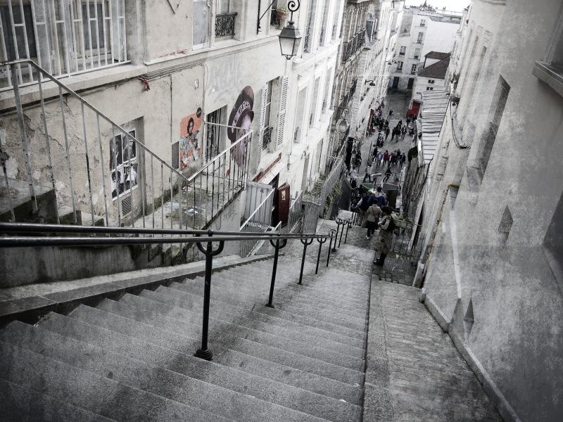 Fit bleiben in Montmartre.