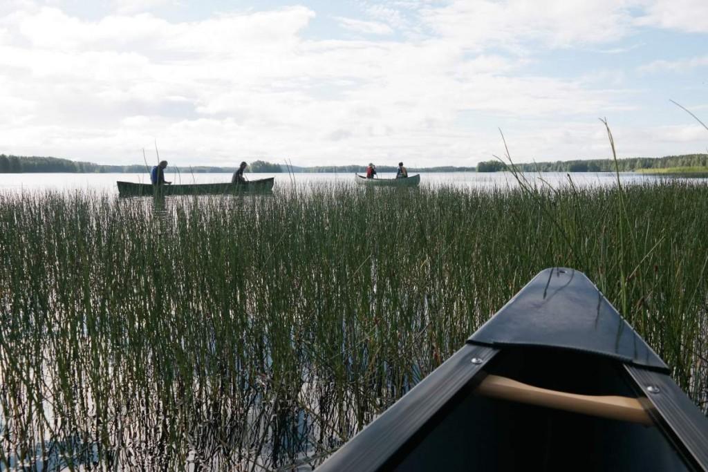 Start auf dem Naarajärvi