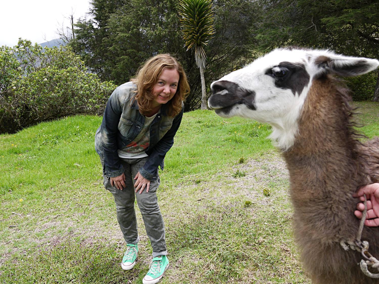Elke mit Lama