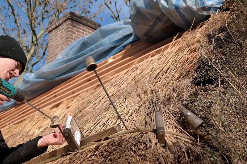 Kunsthandwerker auf dem Dach