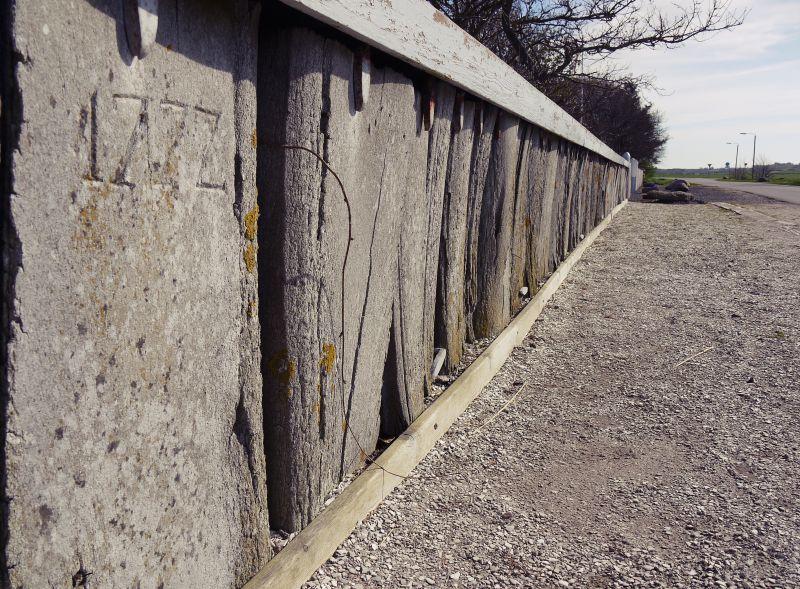 Ein Zaun aus Walknochen