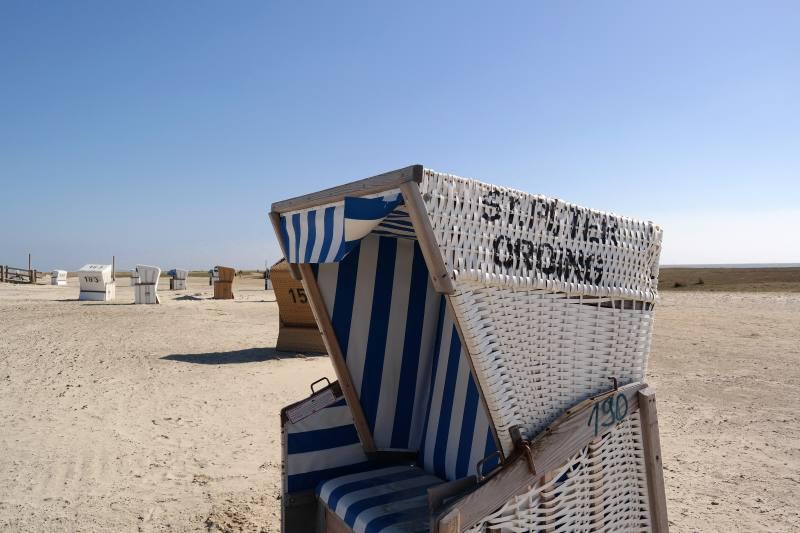 Sommer Nordfriesland im Strandkorb