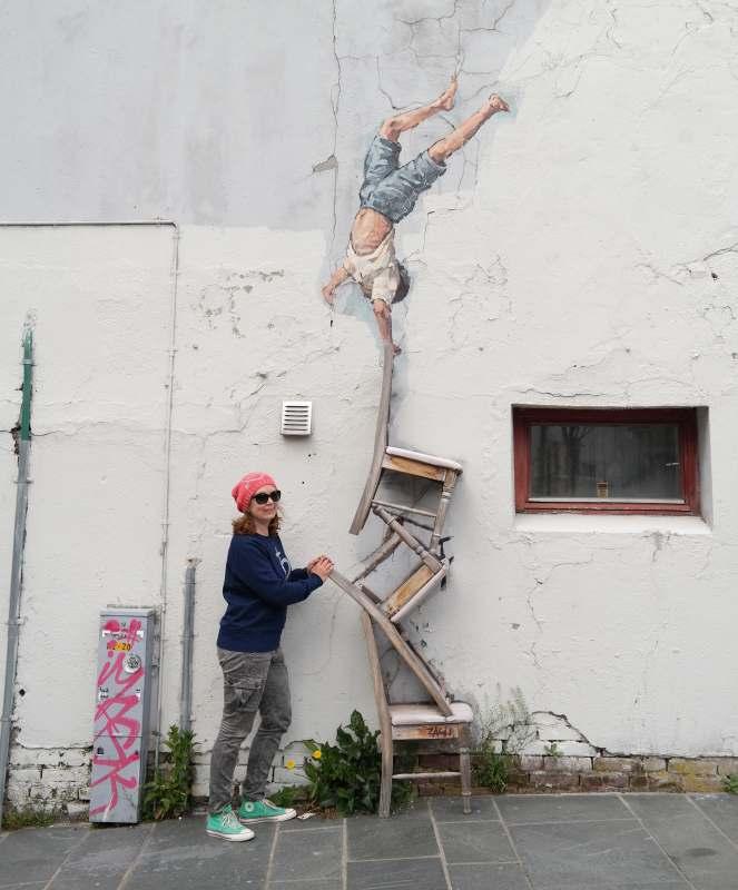 Störfaktor in der Streetart von Ernest Zacharevic