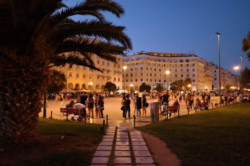 Nachts in Thessaloniki