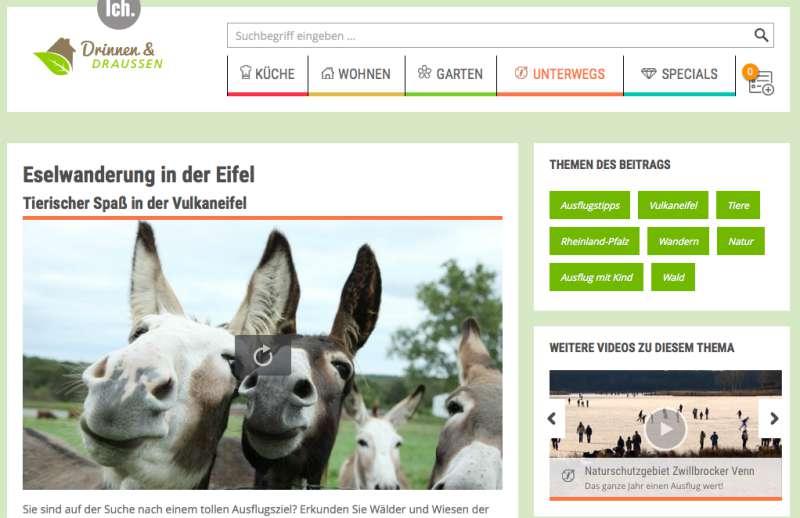 Mit Eseln wandern © WDR mediagroup