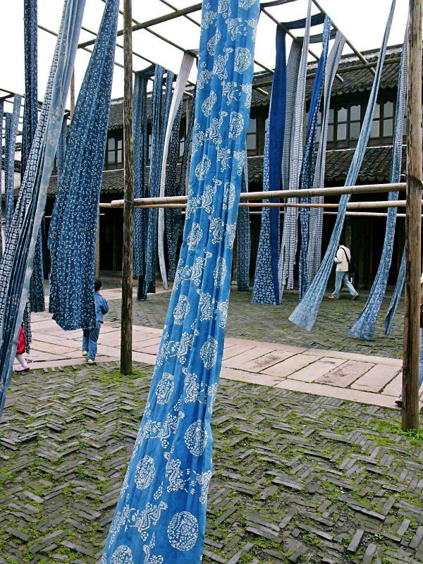 Indigo-Tücher in Wuzhen